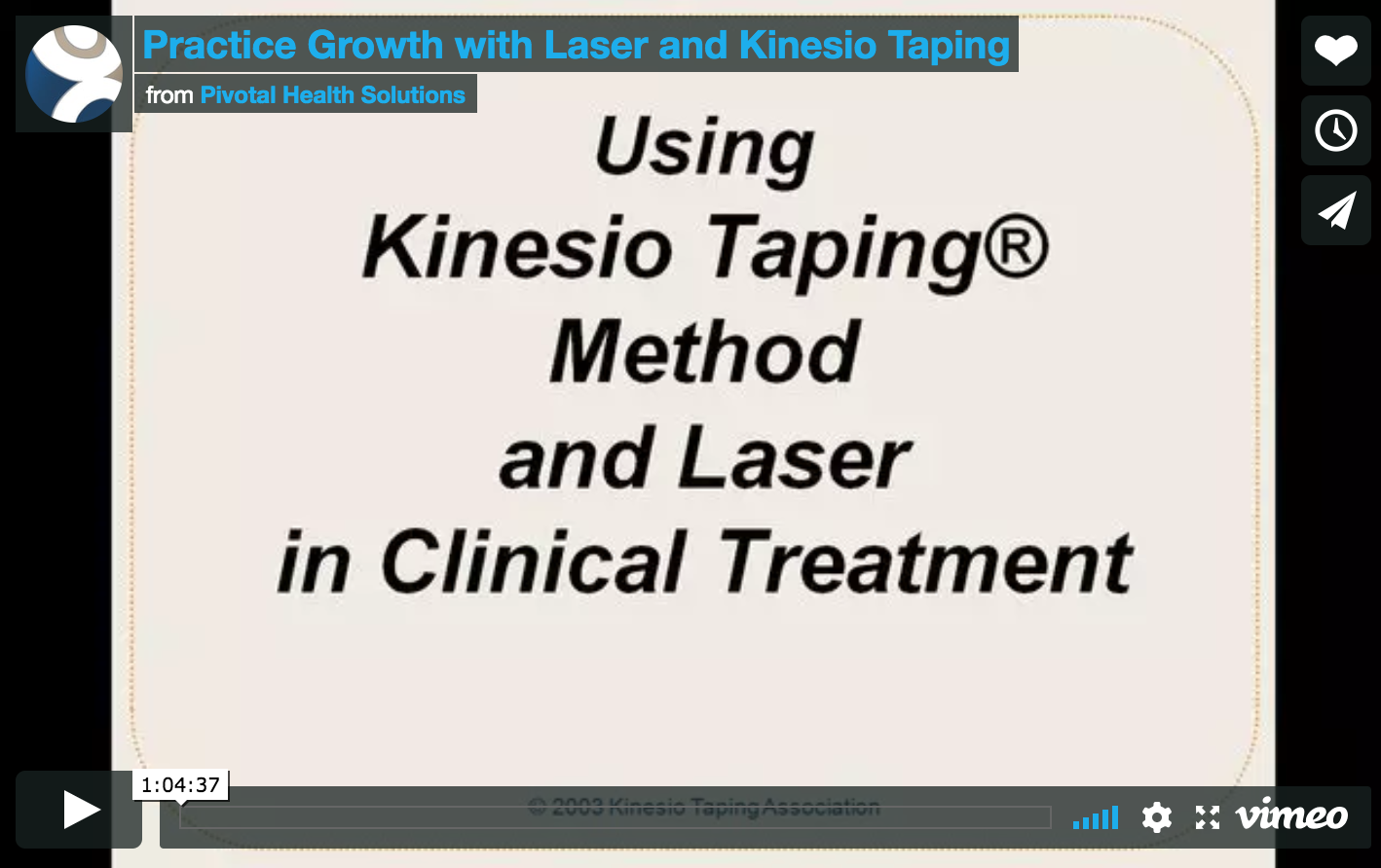 Laser and Kinesio Taping