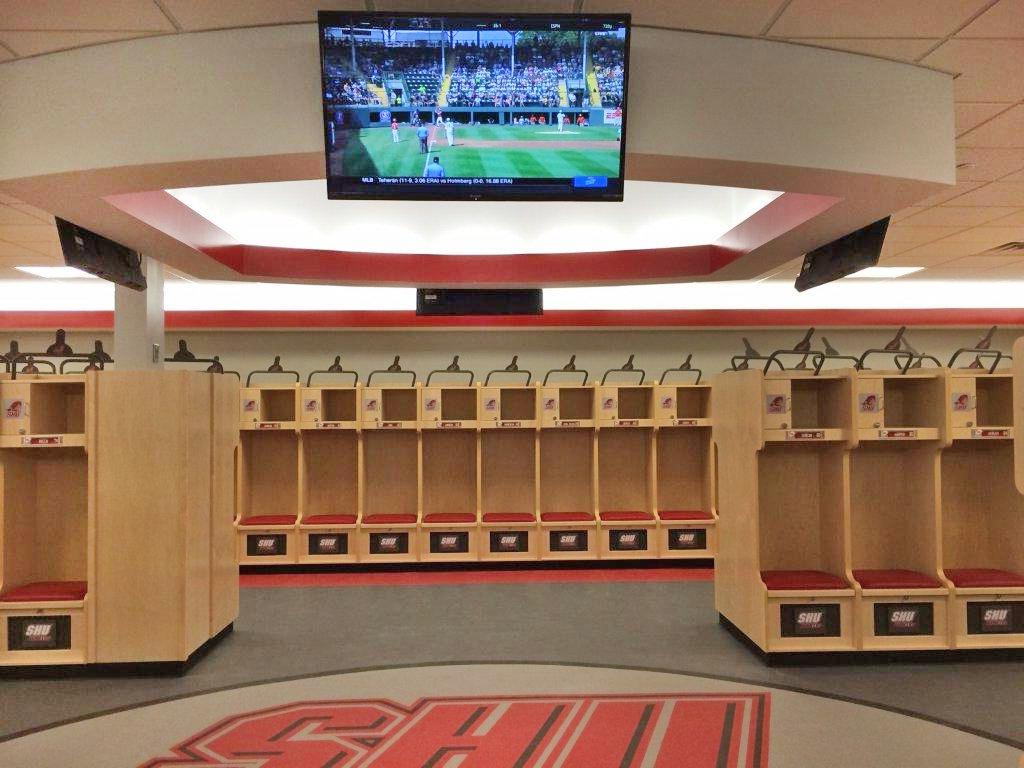 Sacred Heart University Football Locker Room
