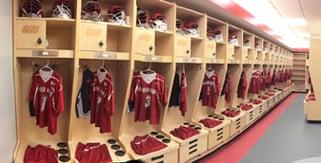 Sacred Heart University Lacrosse locker room