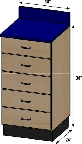 SEMCB-002-5D Base Cabinet