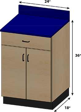SEMCB-003-1D Base Cabinet