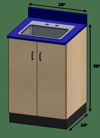 SEMCB-004-Sink Base Cabinet