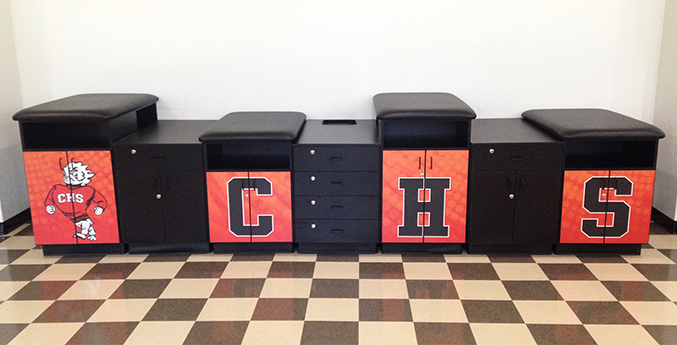 COALINGA HIGH SCHOOL TAPING STATION