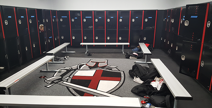 VILLAGE CHRISTIAN ACADEMY LOCKER ROOM
