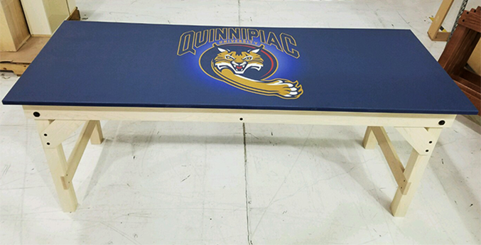 QUINNIPIAC UNIVERSITY CUSTOM LAMINATE LAB TABLE