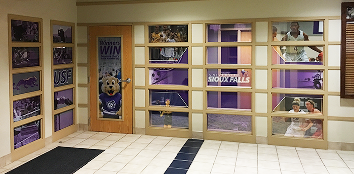 UNIVERSITY OF SIOUX FALLS STEWART CENTER - CUSTOM GRAPHICS